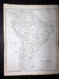 Goldsmith & Hall C1860 Antique Map. South America